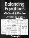 Balancing Equations- Addition and Subtraction