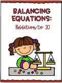 Balancing Equations-Addition to 20