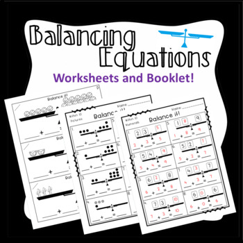 Balancing Equations: Addition within 10 and 20: Missing Addend