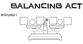 Balancing Equations Algebra Dice Game Differentiated Equiv
