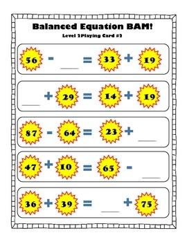 Balancing Equations BAM game