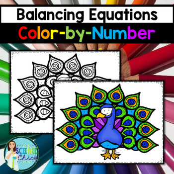 balancing equations color by number by science chick tpt. Black Bedroom Furniture Sets. Home Design Ideas