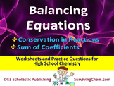 Balancing Equations & Conservation of Atoms - Worksheets & Practice Questions