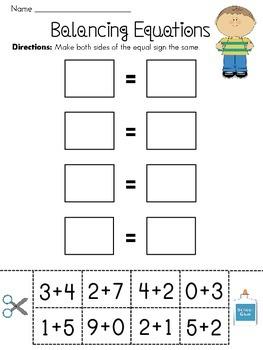 Balancing Equations Worksheets by Miss Giraffe | TpT