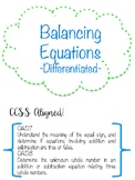 FREE Balancing Equations {Differentiated!}