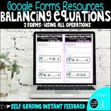 Balancing Equations Digital Google Forms
