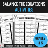 Balancing Equations - Equivalent Number Sentence Activities