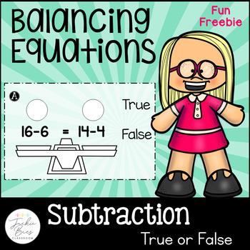 Balancing Equations FREEBIE