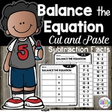 Balancing Equations First Grade | Subtraction Facts