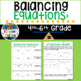 Balancing Equations Lesson for 4-6 grade Math (shapes, numbers, archimedes)