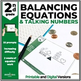 Balancing Equations: Missing Addends & Subtrahends, 2nd Grade Talking Numbers