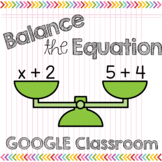 Balancing Equations: Missing Addends to 10 Digital Task Cards GOOGLE Classroom
