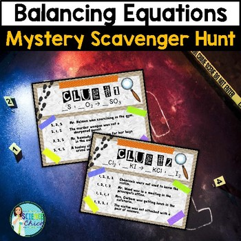 Balancing Equations Mystery Scavenger Hunt