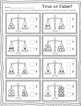 Balancing Equations: Print & Go! worksheets for extra practice and/or assessment