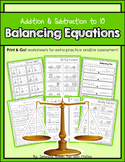 Balancing Equations: Print & Go! worksheets for extra prac