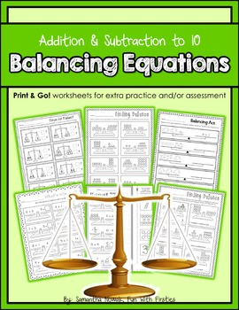 Balancing Equations: Print & Go! worksheets for extra prac