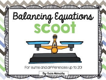 Balancing Equations Scoot: Addition and Subtraction