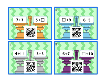 Equalities QR Code Task Cards