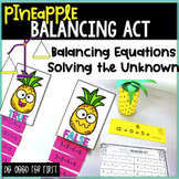 Balancing Equations & Solving Unknown {Sorts, Stations & A