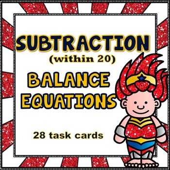 Balancing Equations - Subtraction within 20