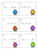 Balancing Equations Task Cards & Game