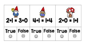 Balancing Equations True/False Clip Cards - Addition to 20
