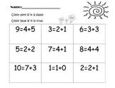 Balancing Equations True and False