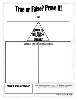 Balancing Equations Workmat