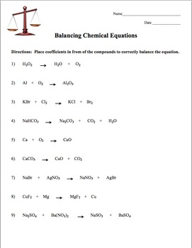 Balancing Equations Practice   DocHub besides An introduction to balancing chemical equations by carman88 together with Chemistry Balancing Equations Worksheet Answers   Worksheet Resume likewise  likewise 4  Have you played with L additionally Balancing Equations Worksheet – Episode 604 – page 6 23 and page as well Balancing Equations And Reaction Types Worksheet Answers Free furthermore Balancing Equations Questions and Answers moreover balancing equations 04   Chemistry   Pinterest   Equation besides Kindergarten 49 Balancing Chemical Equations Worksheets  with in addition Balancing Equations All 8th grade science classes   YouTube. on balancing equations worksheet answer key
