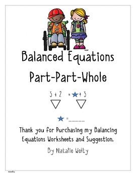 Balancing Equations Worksheets