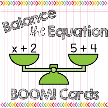 Boom Cards Math Balancing Equations Missing Addends to 10 Solving for Unknown