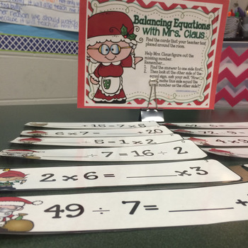Balancing Equations for Addition, Multiplication, Division