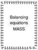 Balancing Equations using mass