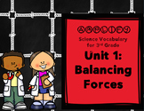 Balancing Forces Amplify Science 3rd Grade Unit 1 Focus Wall