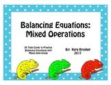Balancing Mixed Equations Task Cards