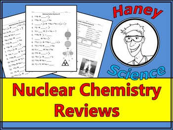balancing nuclear reactions worksheet by haney science tpt. Black Bedroom Furniture Sets. Home Design Ideas