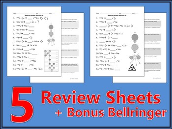 Balancing Nuclear Reactions Worksheet by Haney Science   TpT