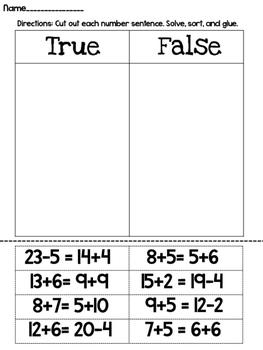 Balancing Numbers Sentences