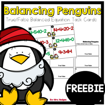 Balancing Penguins: True/False Task Cards