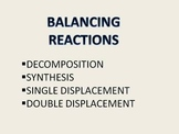 Balancing Reactions Problems and Key
