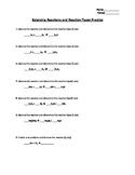 Balancing Reactions and Naming Reactions Practice