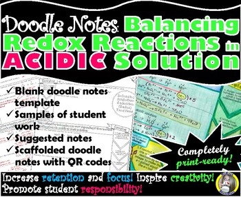 Balancing Redox Reactions in Acidic Solution - Chemistry Doodle Notes