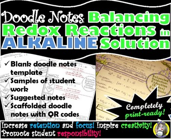 Balancing Redox Reactions in Alkaline (Basic) Solution - Chemistry Doodle Notes