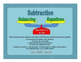 Balancing Scales Subtraction Equations