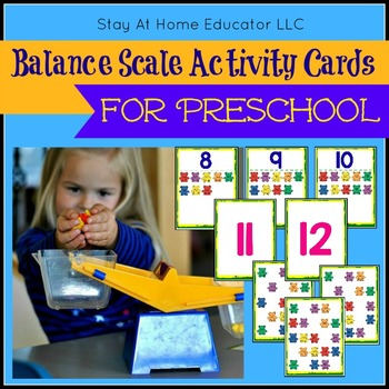 Balancing Scale and Counting Bears Cards and Activities