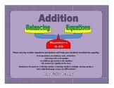 Balancing Scales Addition Equations