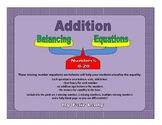 Balancing Scales Addition Equations