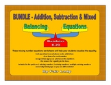 Balancing Scales Equations Bundle
