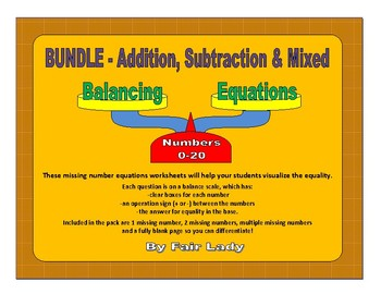 Balancing Scales Equations Bundle