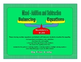 Balancing Scales Mixed Operations Equations (Add & Subtract)